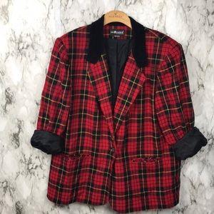 Vintage Sag Harbor Woman Plaid Christmas Jacket